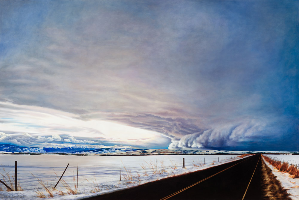 "Michelle Osman    Winter Waves,  2014  Oil on Canvas 60"" x 90""  CMO0008"