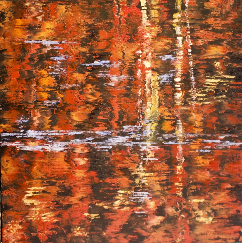 """James Pringle Cook    The Stream #3   Oil on Linen 48"""" x 48""""  (sold individually or as quadriptych)  CJC0011"""