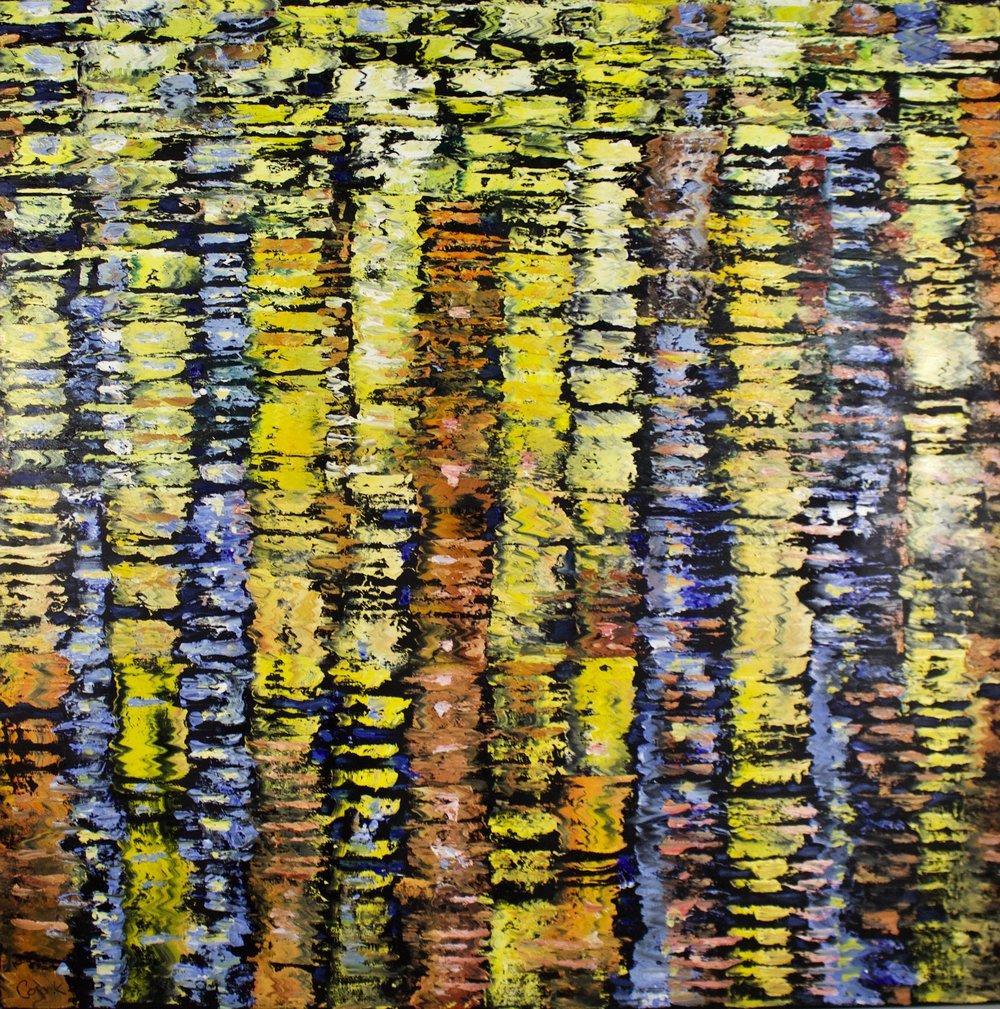 """James Pringle Cook    Tully's Drift   Oil on Linen 48"""" x 48""""  CJC0008"""