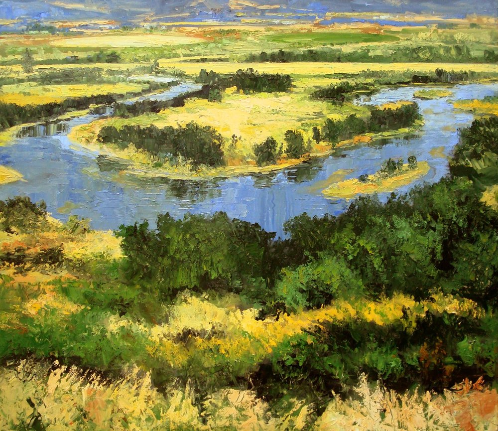 "James Pringle Cook    Meanders of Silver Creek   Oil on Linen 50"" x 70""  CJC0004"