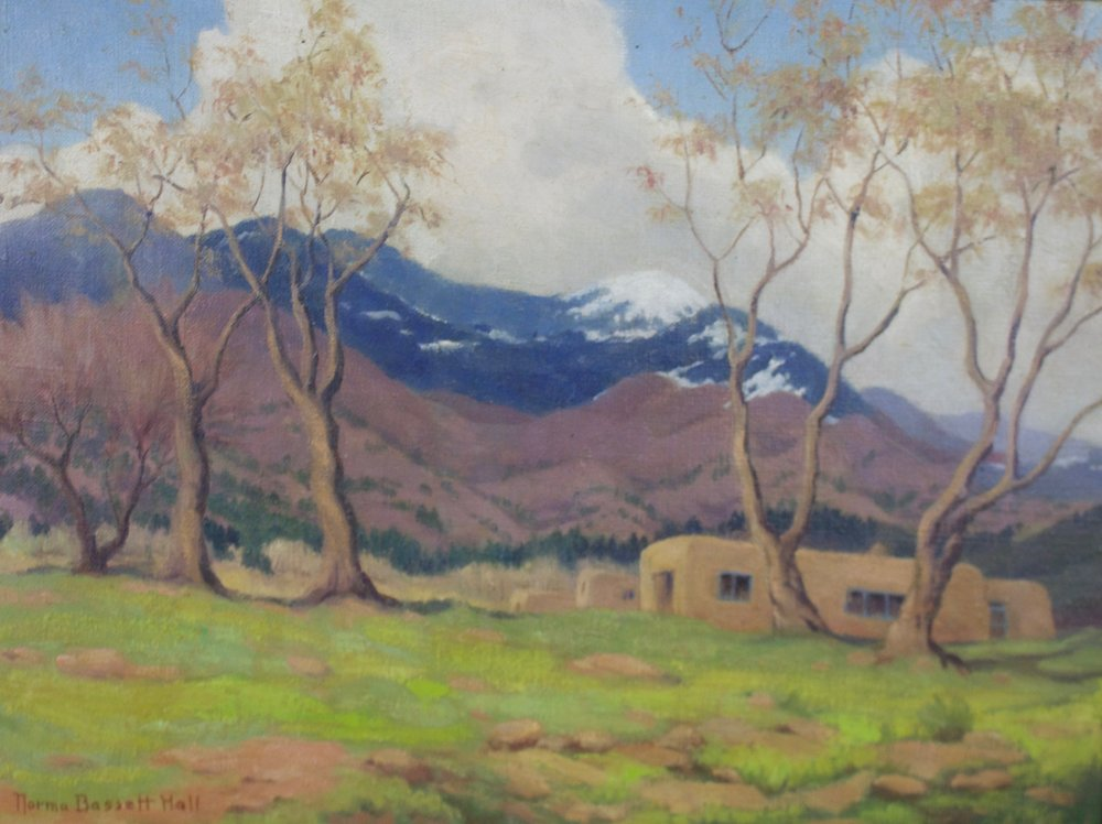 "Norma Bassett Hall  (1889-1957)   Cristo Mountains   Oil on Canvas  Framed 15"" x 20""  BV0682"