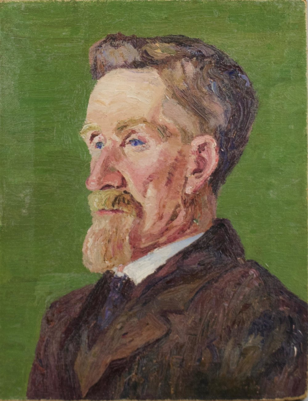 "Theodore Wores  (1860-1939)  Untitled Portrait, 1912  Oil on Canvas 18.5"" x 4'  BV0406"