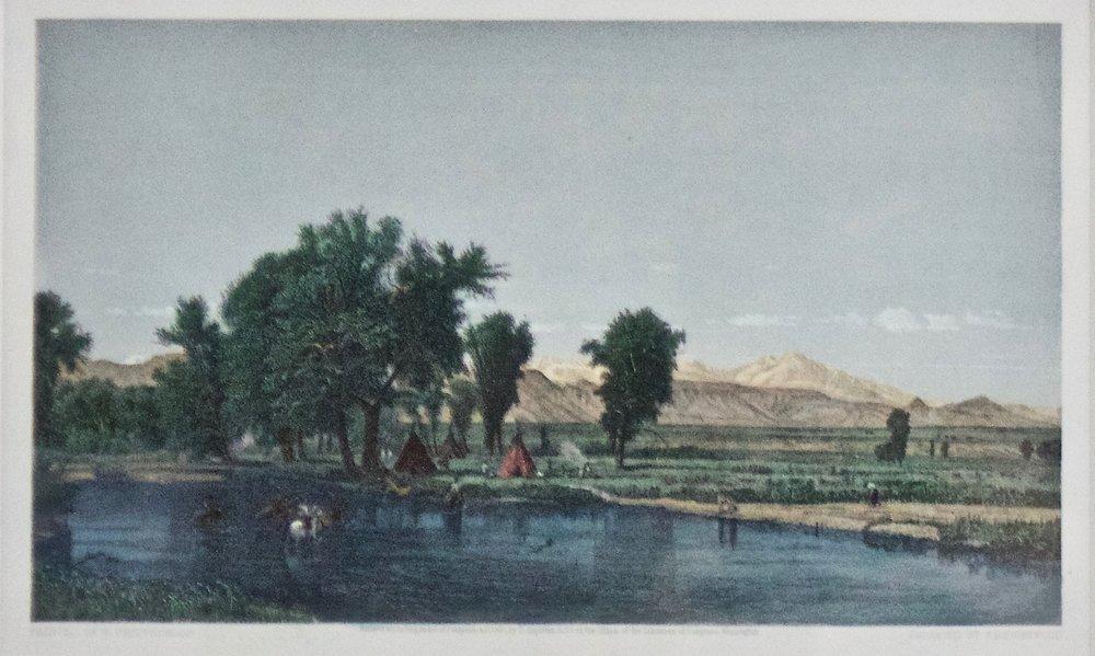"Thomas Worthington Whittredge  (1820-1910)   The Rocky Mountains   NY Appleton and Co  Framed: 18.5"" x 22.5""  BV0797"