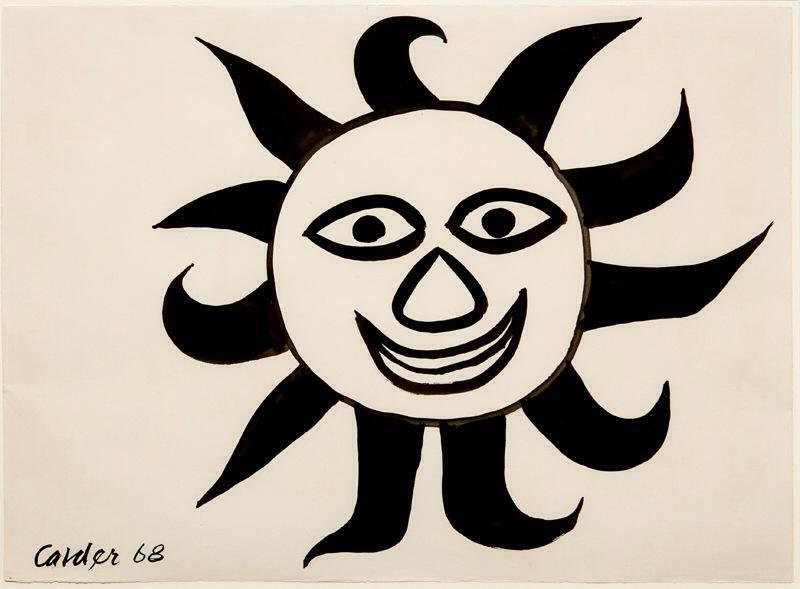 "Alexander Calder  (1898-1976)   Sun , 1968  Gouache on Paper  Framed 23.75"" x 31""  CGL0023"
