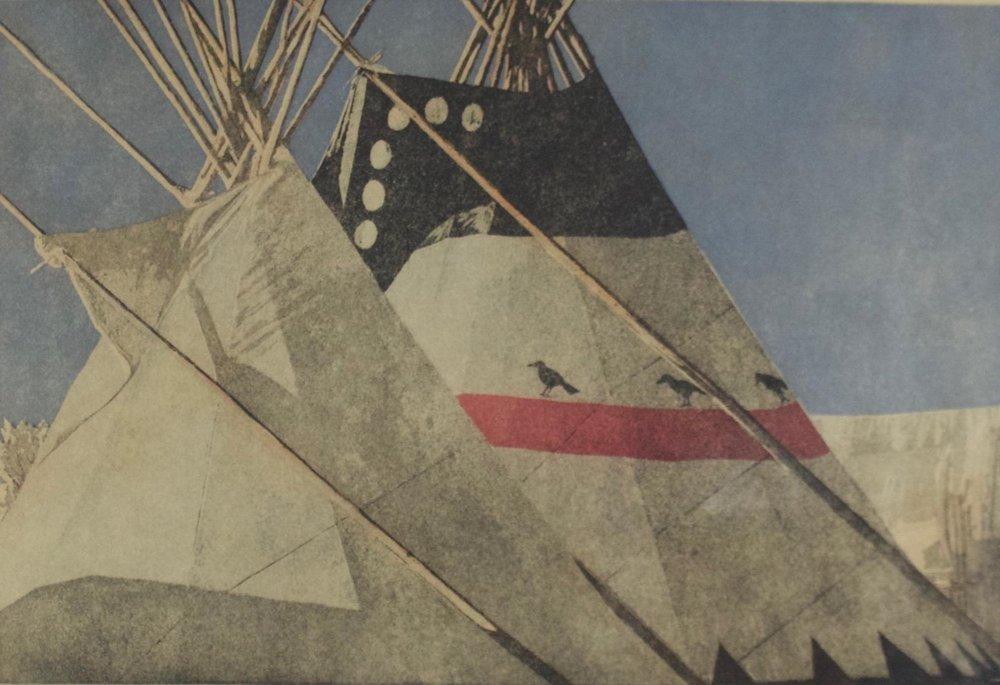 Wolfgang Pogezeba  (1936-1982)   Crow Fair  43/60  BV0145
