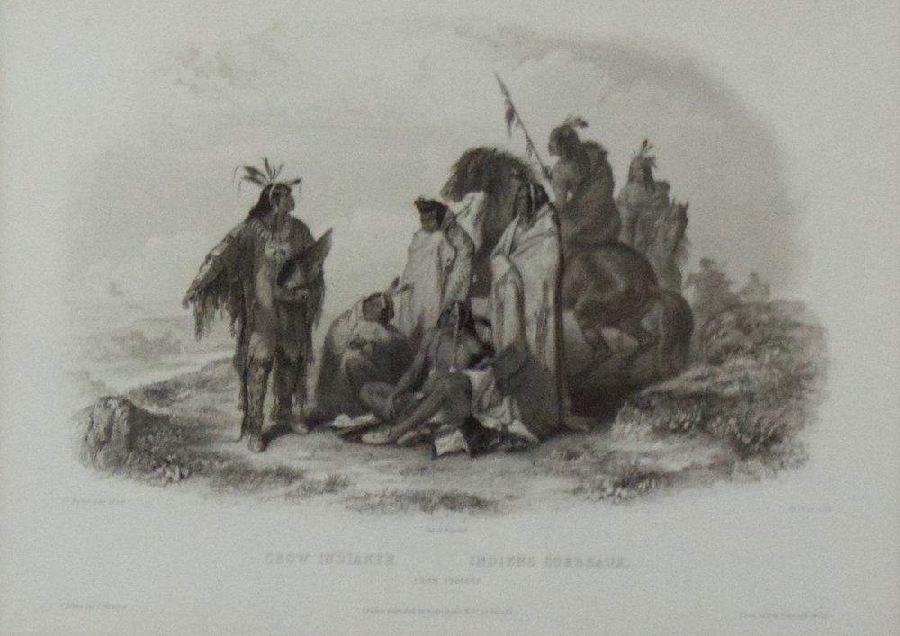 "Karl Bodmer    Crow Indians , 1839  Vignette XXX, 1st Edition, Pg. 315  Framed 19.25"" x 22.25""  BV0795"