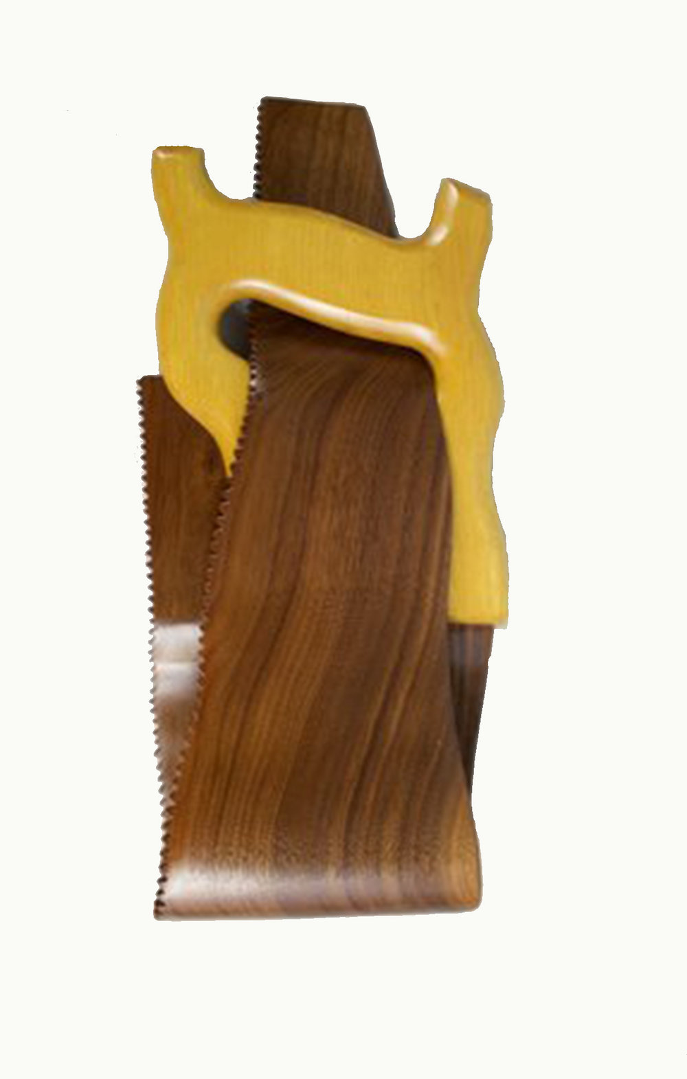 Chris Hedrick    Handsaw,  2016  Walnut & Yellow Heart  CCH0009