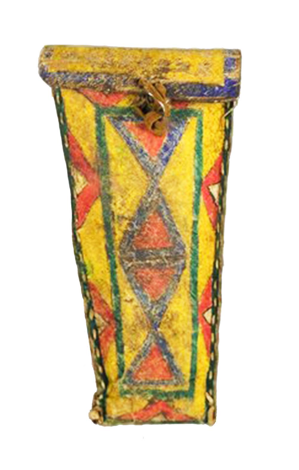 Sioux Parfleche Elliptical Case   c.1890's  BV0479