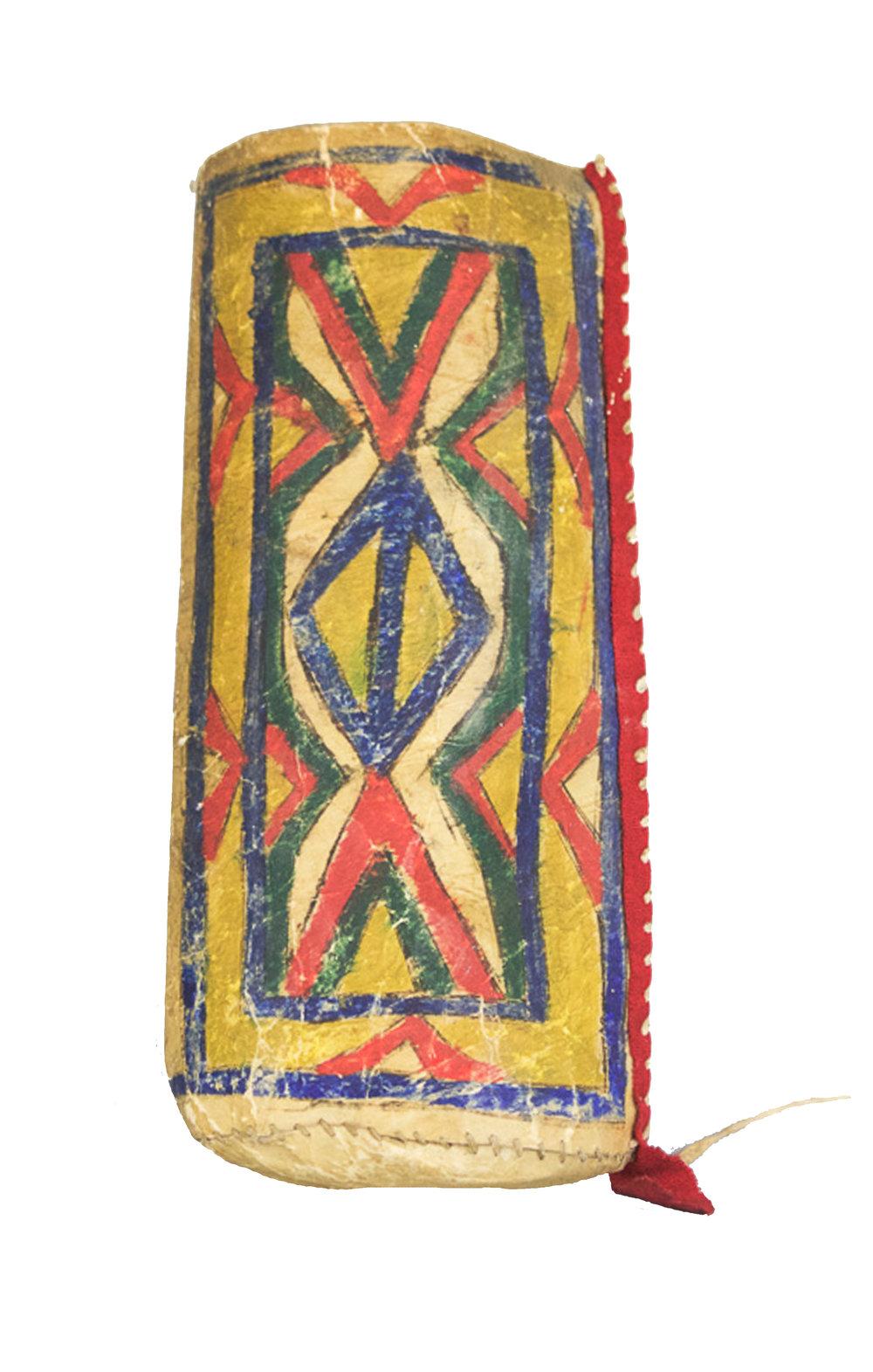 Lakota Parfleche Cylinder   c.1860's  BV0009