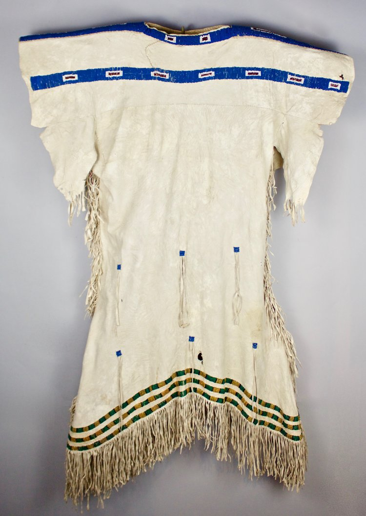 Pony-Beaded Sioux Dress, c1850's