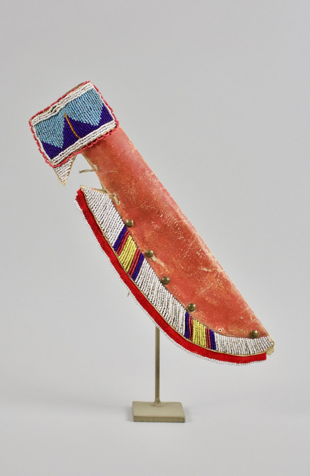 Crow Woman's Beaded Knife Sheath, c. 1880's