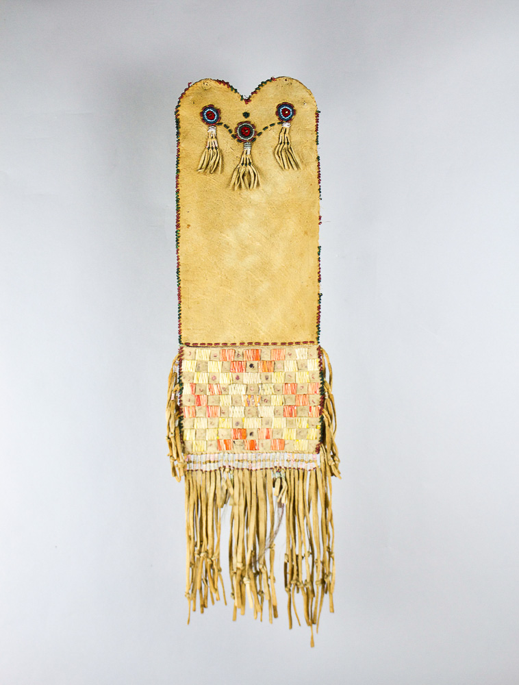 Cree Quilled Tobacco Bag   c.1880's  DV0105