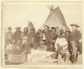 Grant Short Bull  (3rd from the left) 1891 Pine Ridge