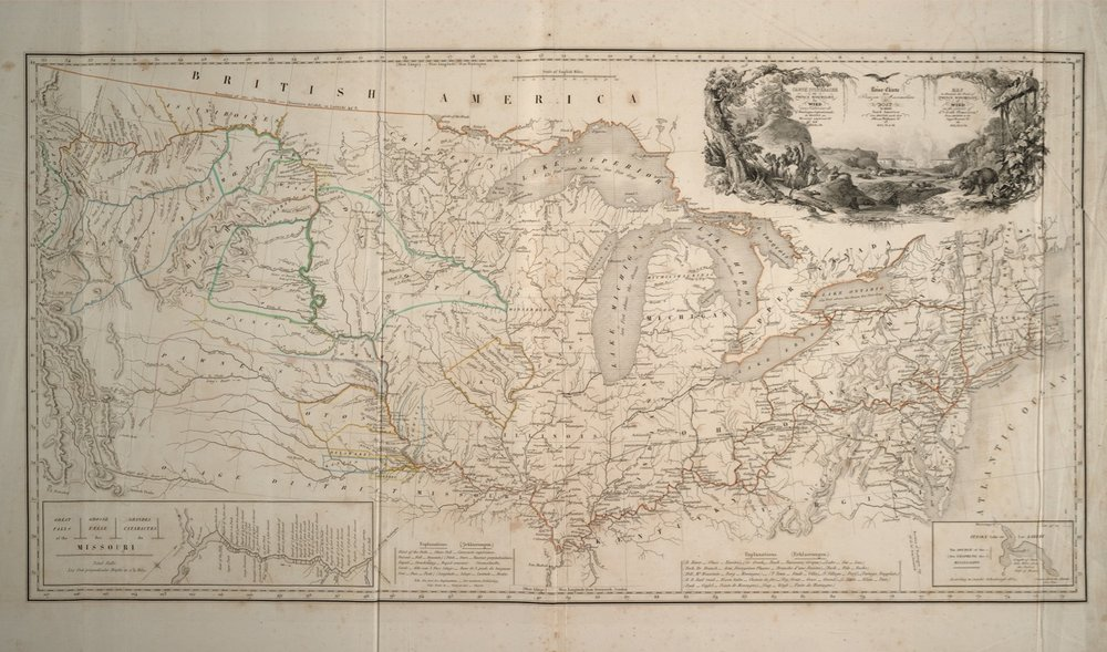 Map of his 1832–1834 North American Travels