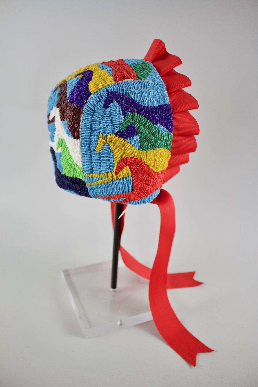 Ogalala Sioux Beaded Bonnet   1990  BV0405