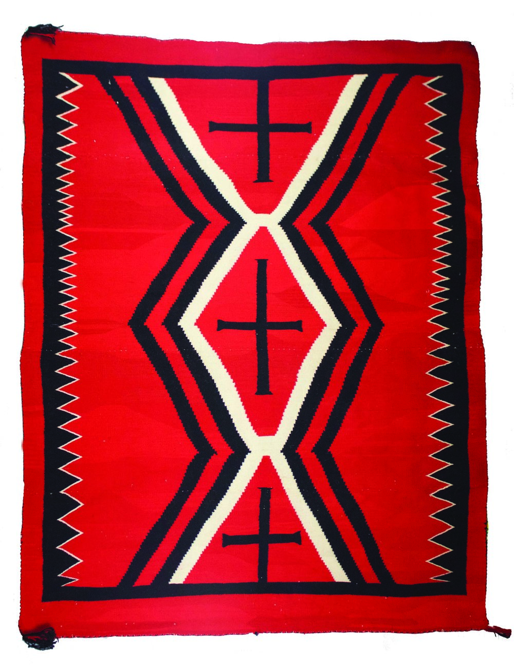 Navajo Germantown Hubbel Weaving   c.1880's-1890's  CHB0002