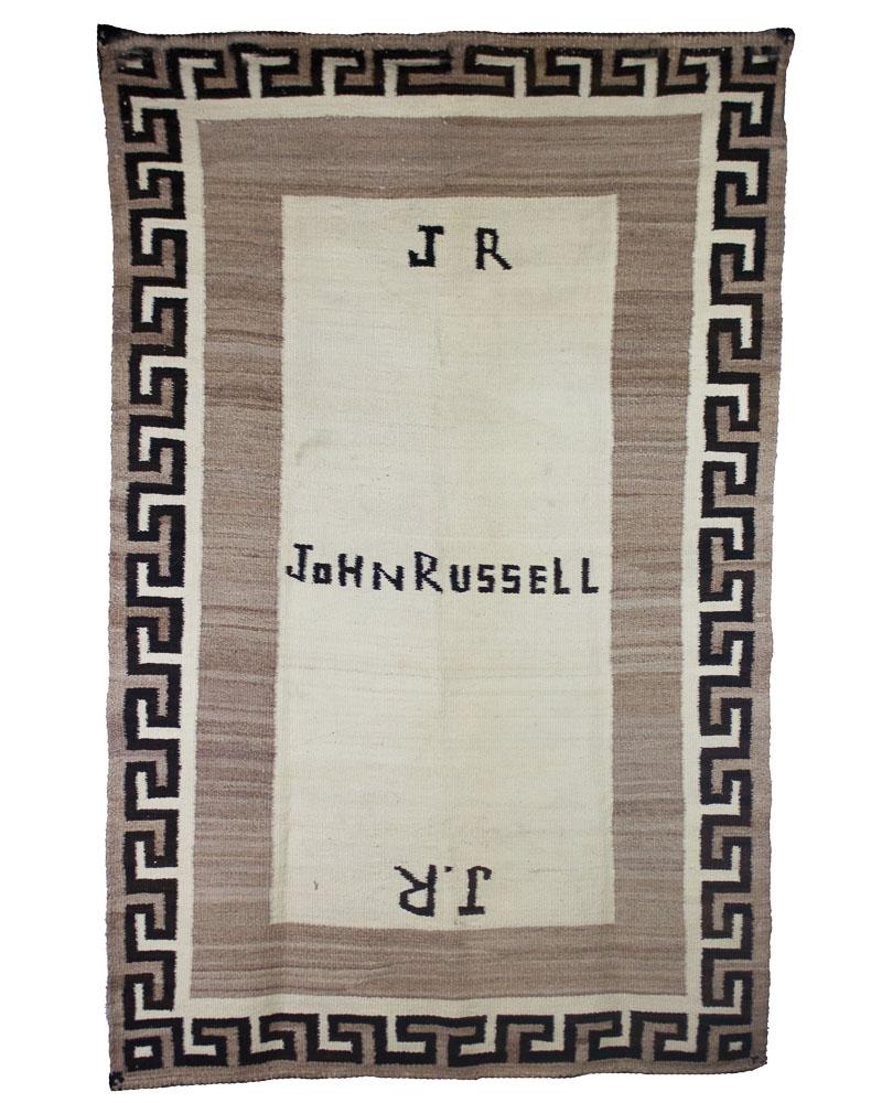 """Navajo Double Saddle Blanket   c.1910-1920's  35"""" x 56"""" // BV0132"""