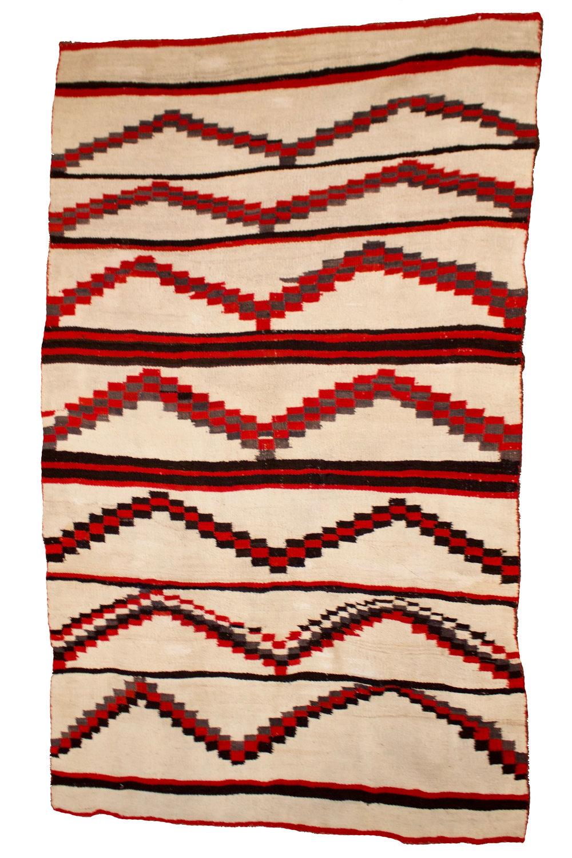 """Navajo Weaving   c.1880's  82"""" x 48"""" // BV0793"""