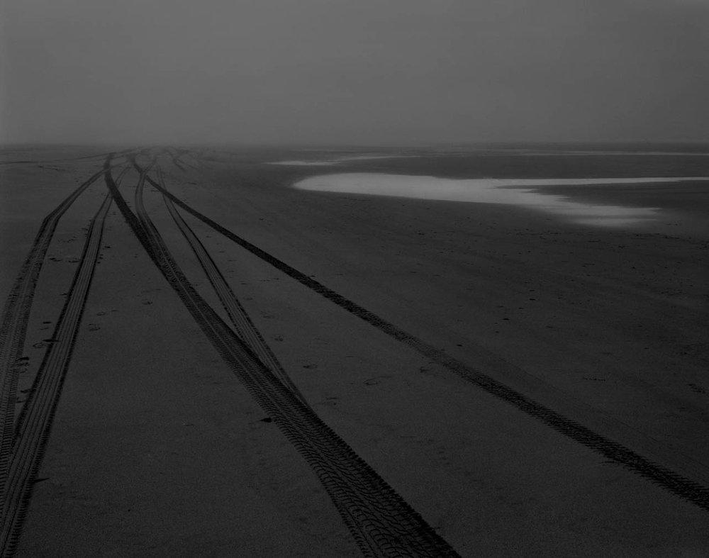 "Jeff Corwin    Sand Tracks   Long Beach, Washington  24"" x 35""  CJC0003"