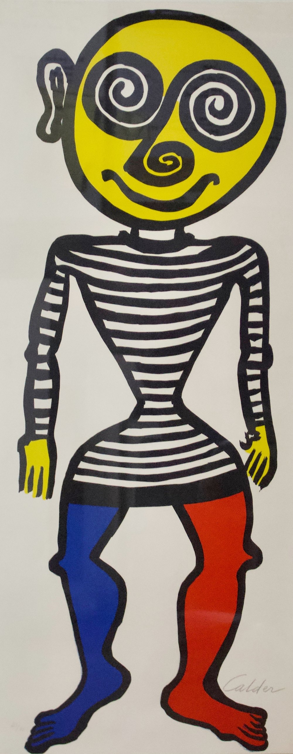 "Alexander Calder  (1898-1976)  Puppet Man, 1960  Color Lithograph Printed on Cream White Arches  Framed: 49.25"" x 25.25""  CGL0030"