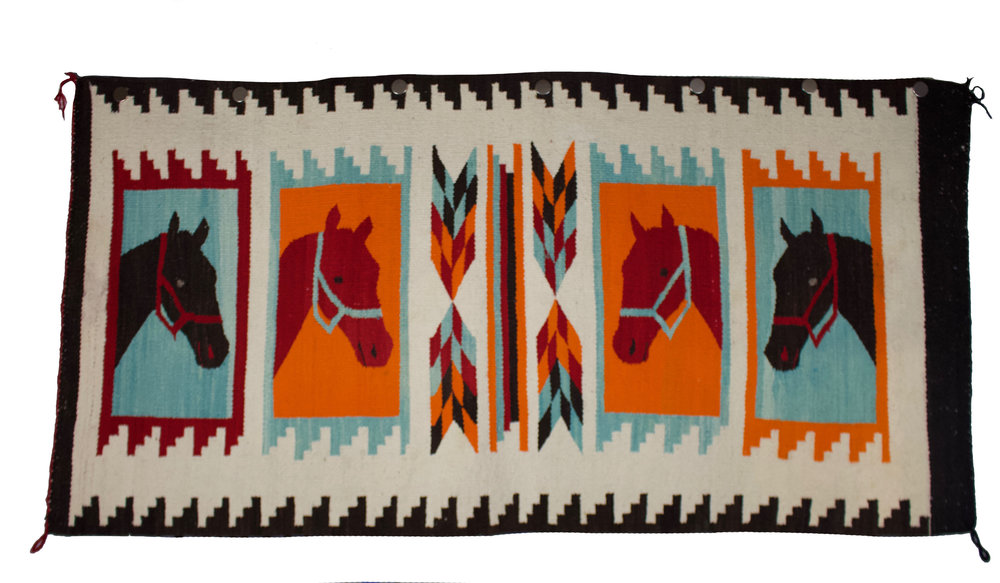 Pictorial Navajo Weaving    c.1890's  BV0838