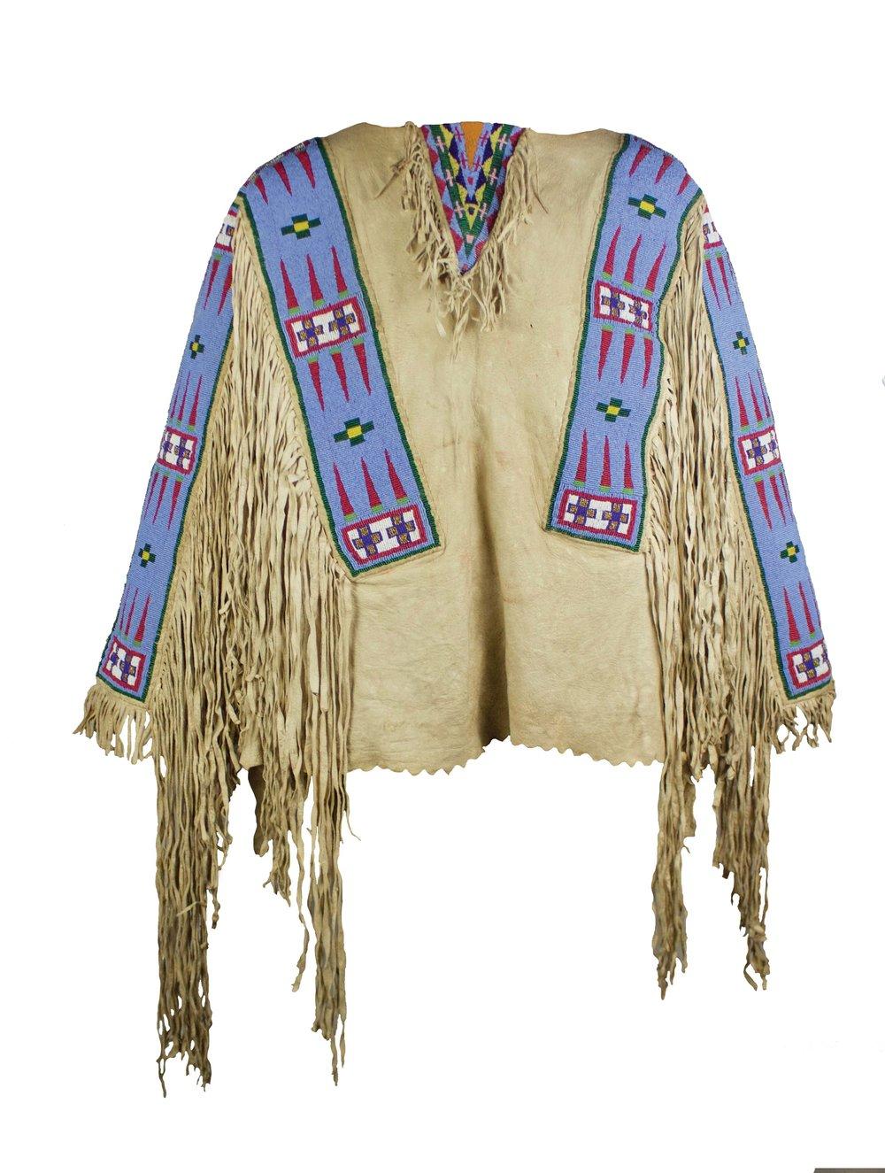 Assiniboine Man's Shirt   c. 1885-1890  CNW0001