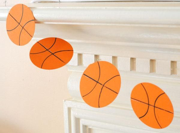 Kids birthday party ideas modern posh for Basketball craft party ideas