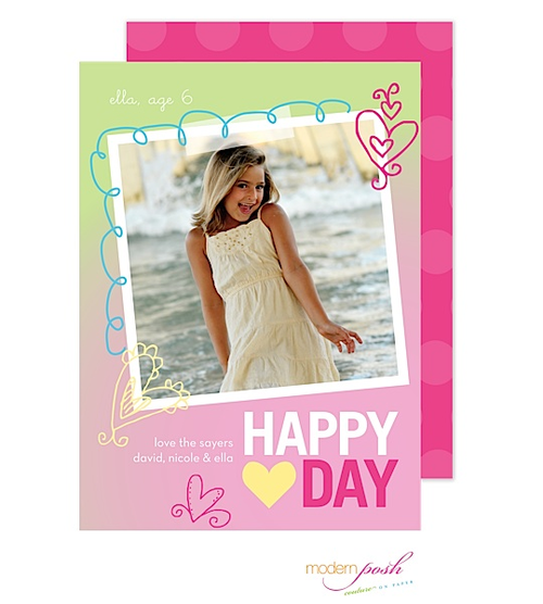 The playful doodles make this card the perfect fit for your favorite kiddos. We love the casual layout of this card, which makes it perfect for your latest snapshot or instagram photo.