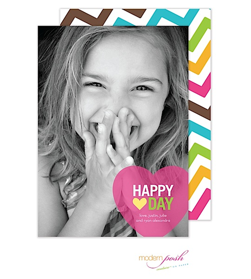 This design is the perfect choice to make your photo to star of the show. We love the brightly colored back design that coordinates with the fun greeting on the front.