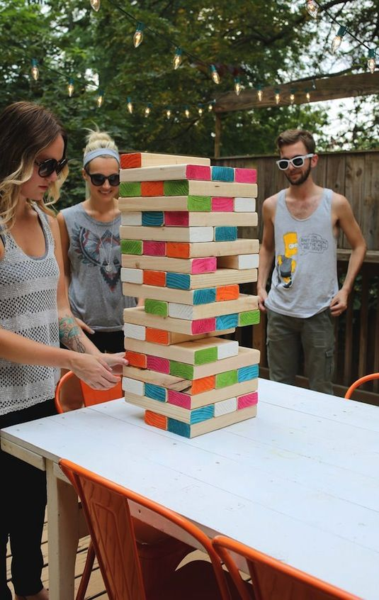 Party games can be lame and awkward, but this alternative is so fun! We love the idea of setting up some yard games for people to play if there's a little downtime.