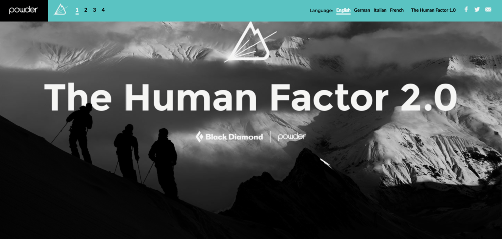 The Human Factor 2.0, sponsored by Black Diamond, changed the way we look at risk and survival in the mountains.