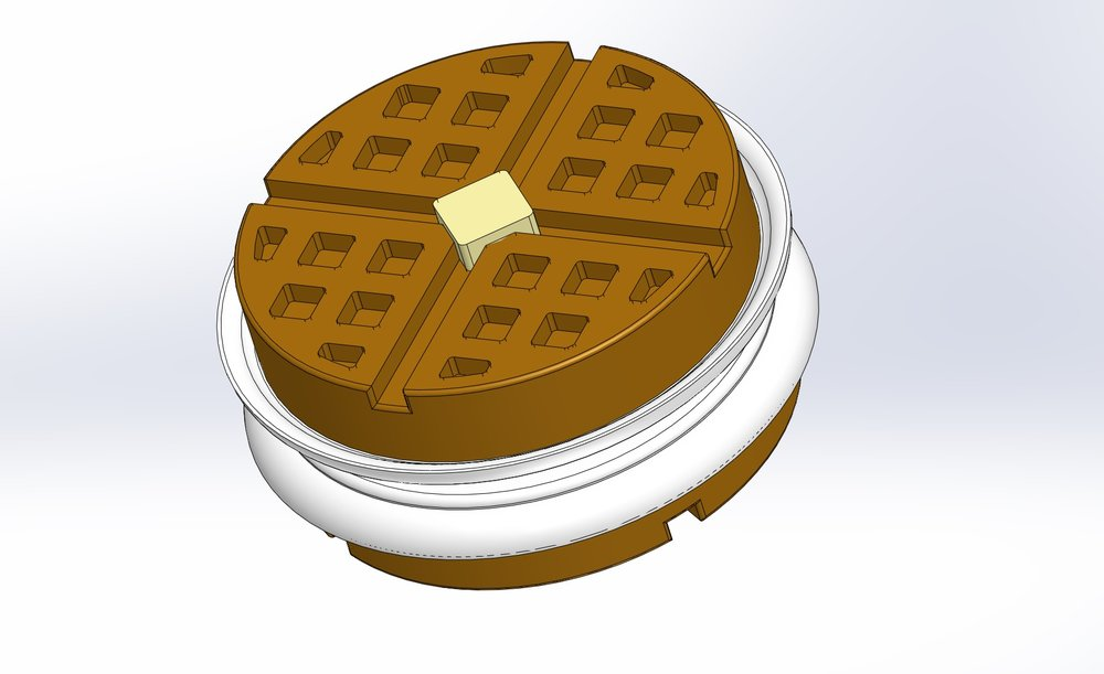 Solidworks model of the assembled yo-yo.