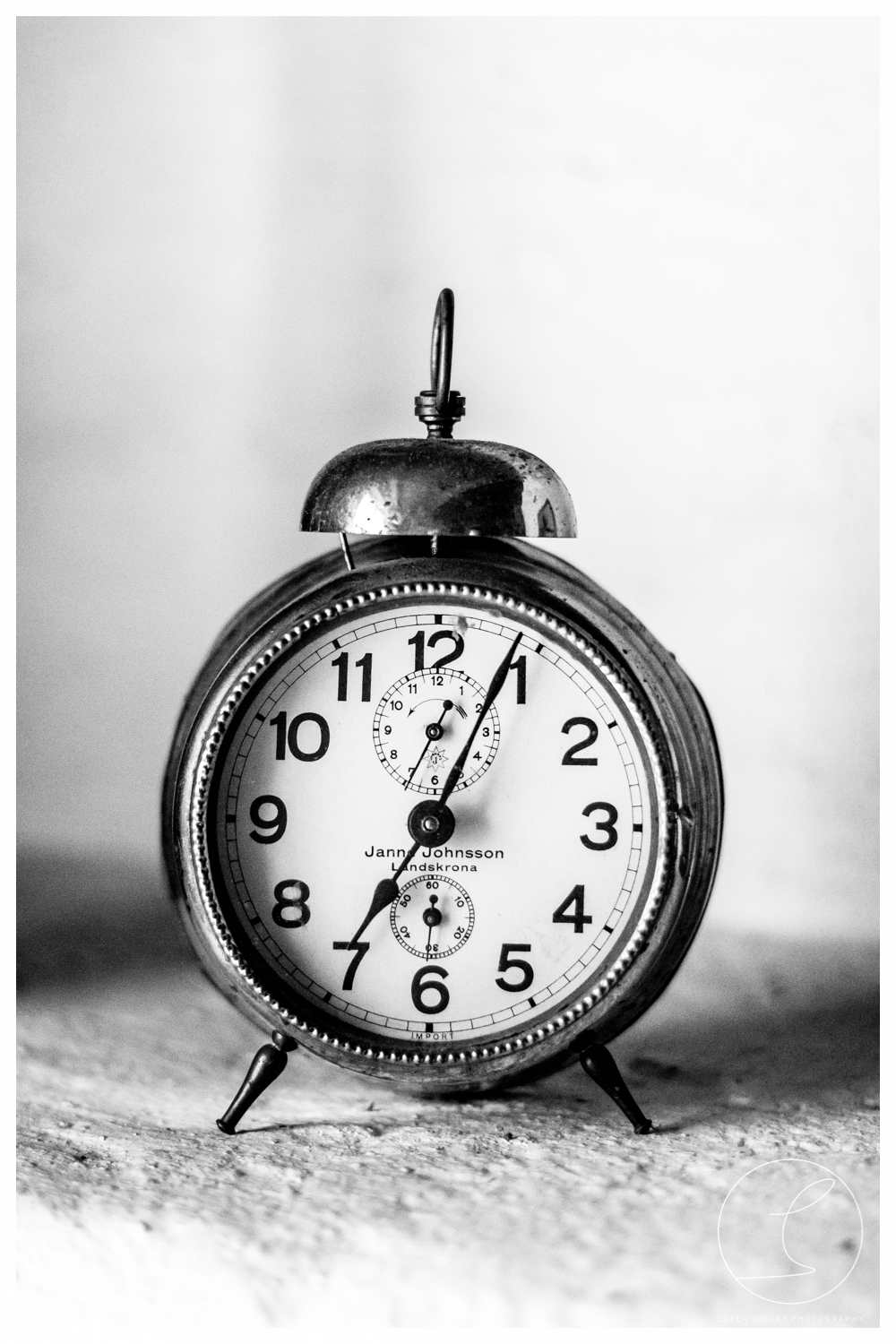 Old Clock, black/white