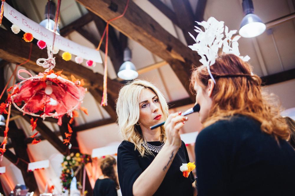 """Les talentueuses maquilleuses de chez """"Le Boudoir Make Up"""" en action !"""