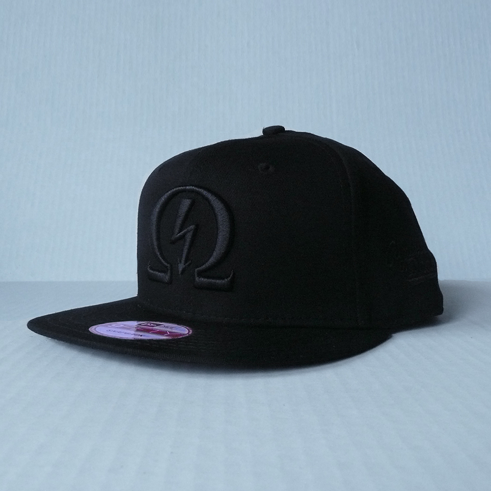 Marked Snapback - Ninja Black