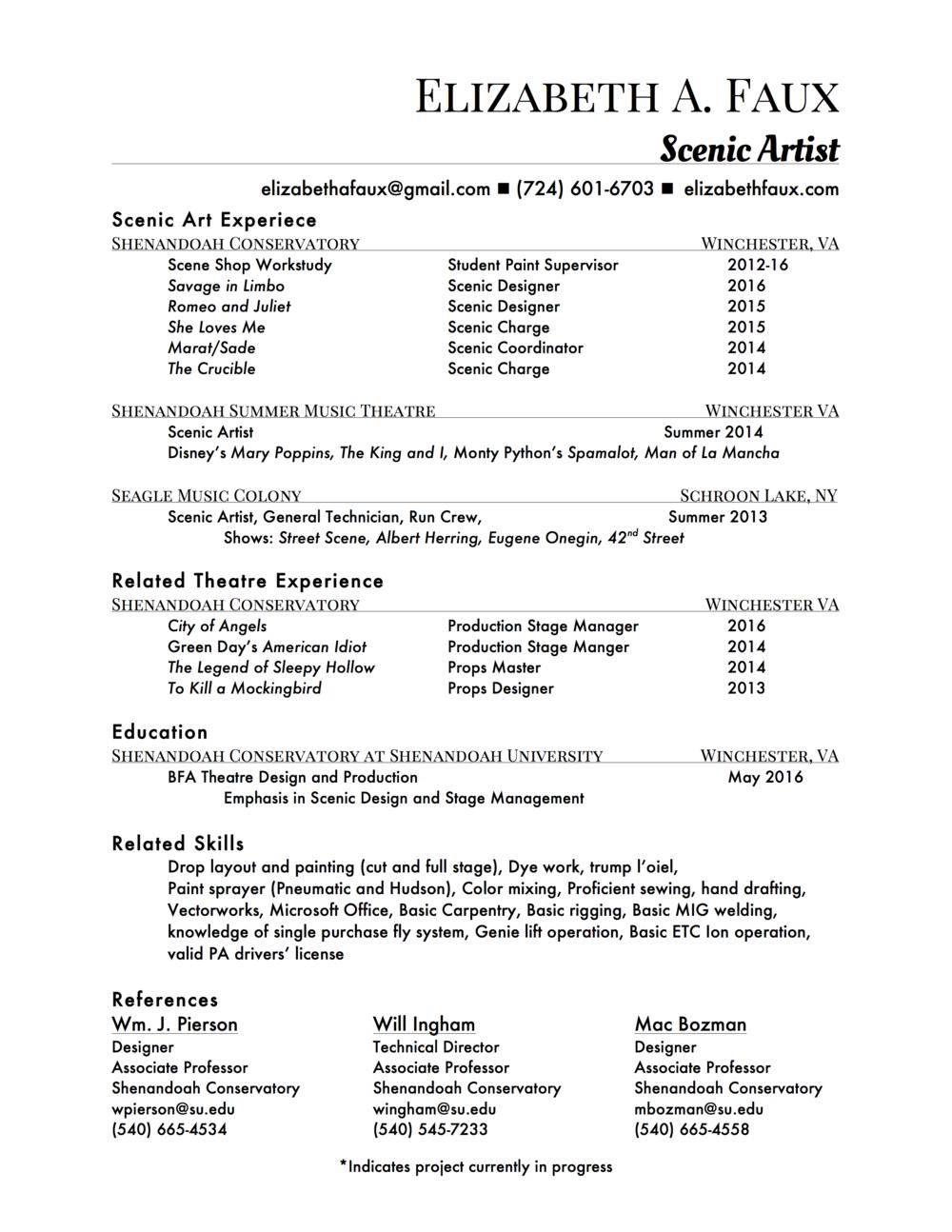 Elizabeth A Faux SA Resume.png  Stage Management Resume