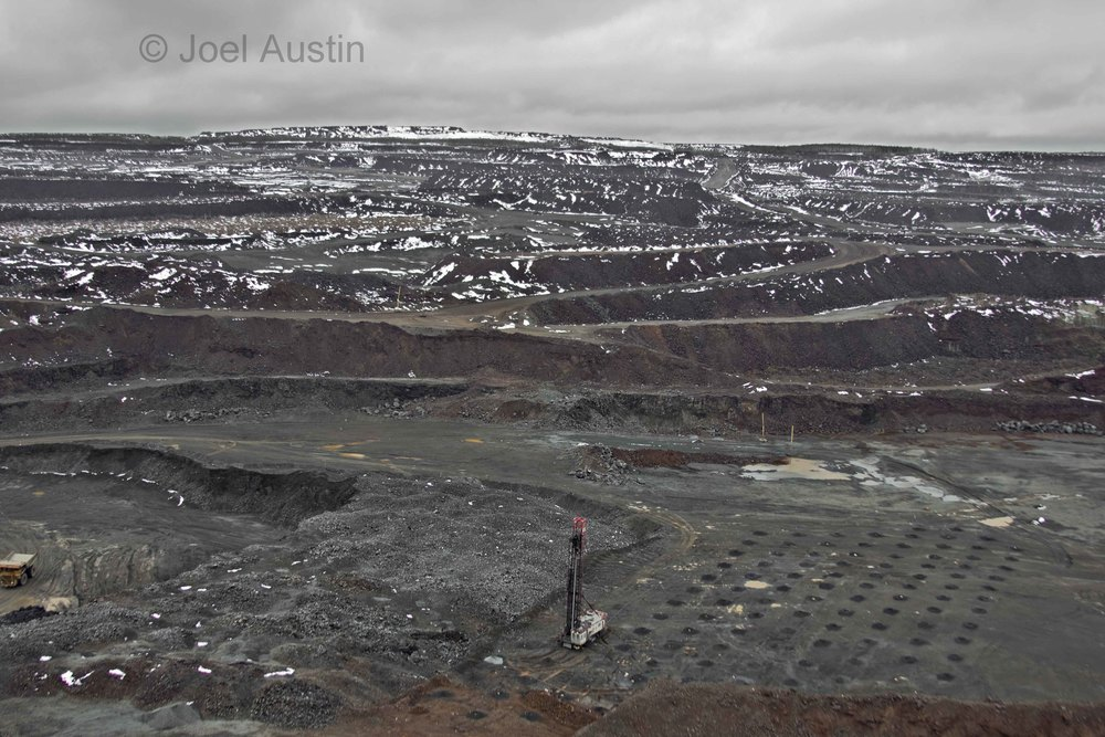A view of just a small portion of the Hull Rust-Mahoning open pit taconite (iron) mine near Hibbing, Minnesota.