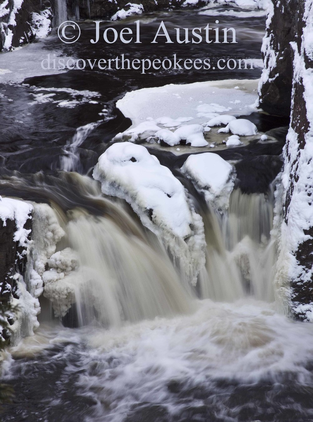 A wintery Copper Falls, at Copper Falls State Park.