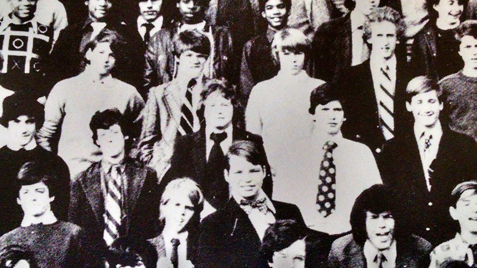 Me in the second row, upper left corner. Baltimore, Maryland. 1970.