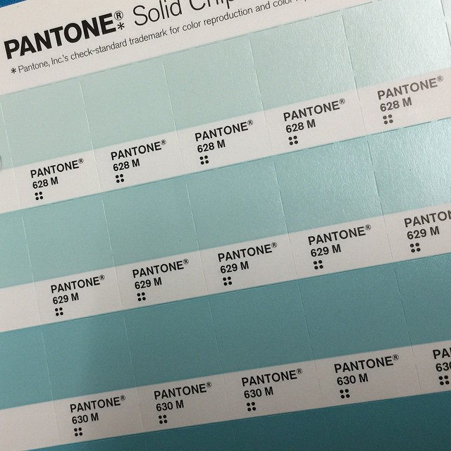 Pantone swatches at the School of Visual Concepts Open House. Seattle, WA, March 2015.