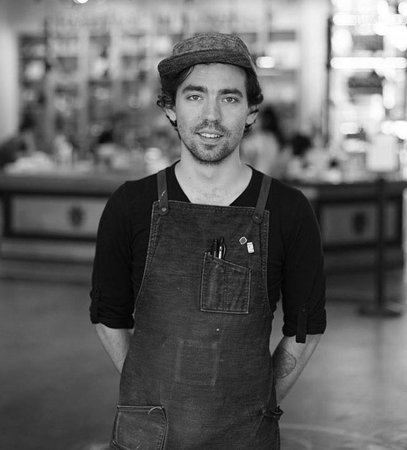 Lucas Rickerson, Apprentice Chocolate Maker, Bellflower Chocolate Co., Seattle, WA, August 2017.