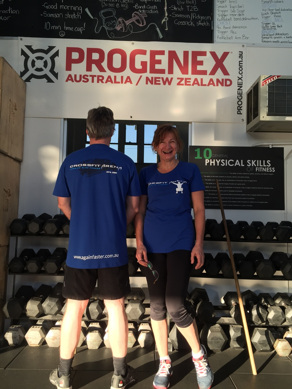 Our new CrossFit Arena T-shirts have arrived. Thank you to our two lovely models, Darren and Suzanne Craig.