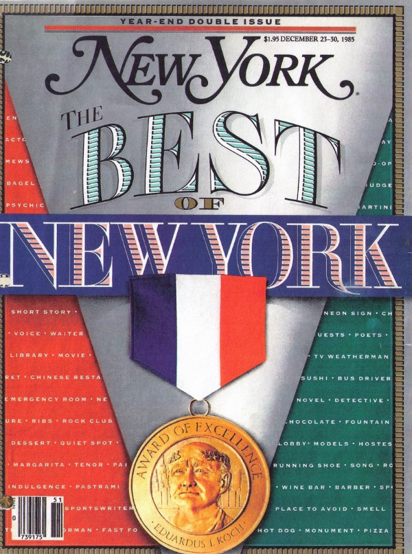 Yolana appeared in. THE BEST OF NEW YORK.     This is the cover of New York Magazine, December 25-30 1985 The article is on this page