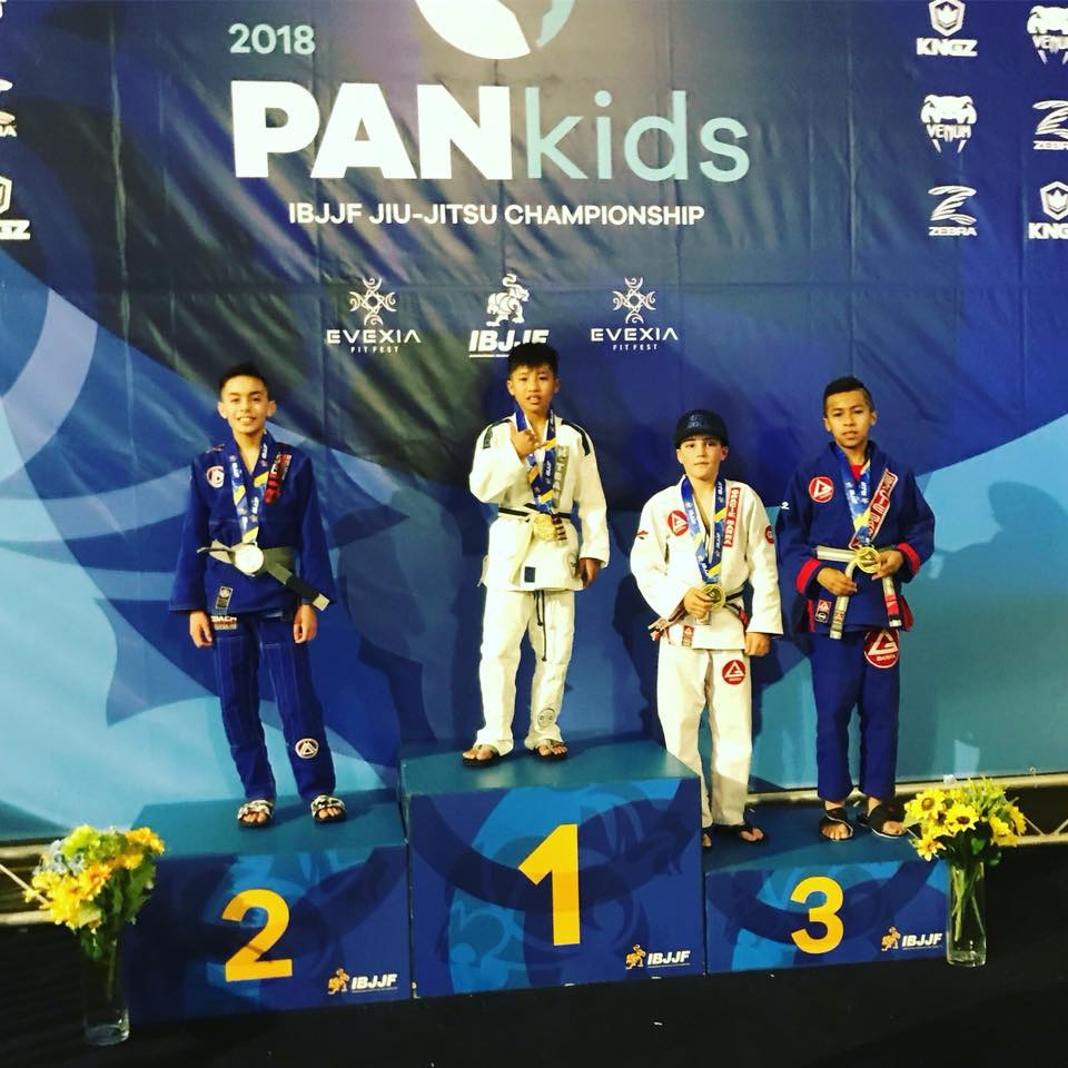 Jayden Seson at 2018 PanKids - Gold Medal