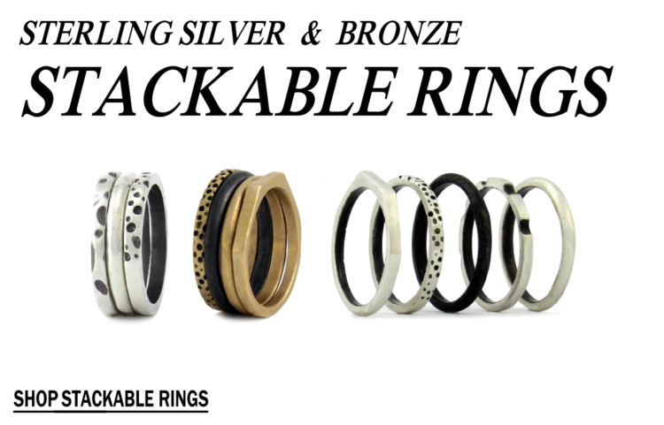 mens stackable rings sterling silver