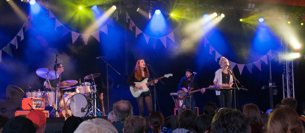 Glastonbury, UK festival with Larkin Poe