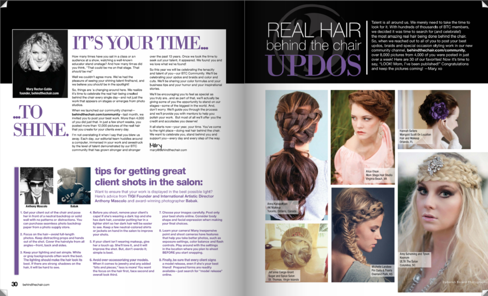 Featured On ModernSalon.com And In Behind The Chair Magazine.