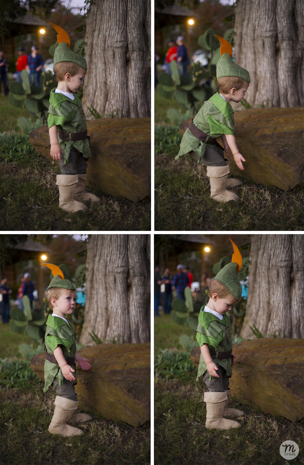 Miles was really disappointed to learn that the costume would not allow him to pick up heavy rocks.