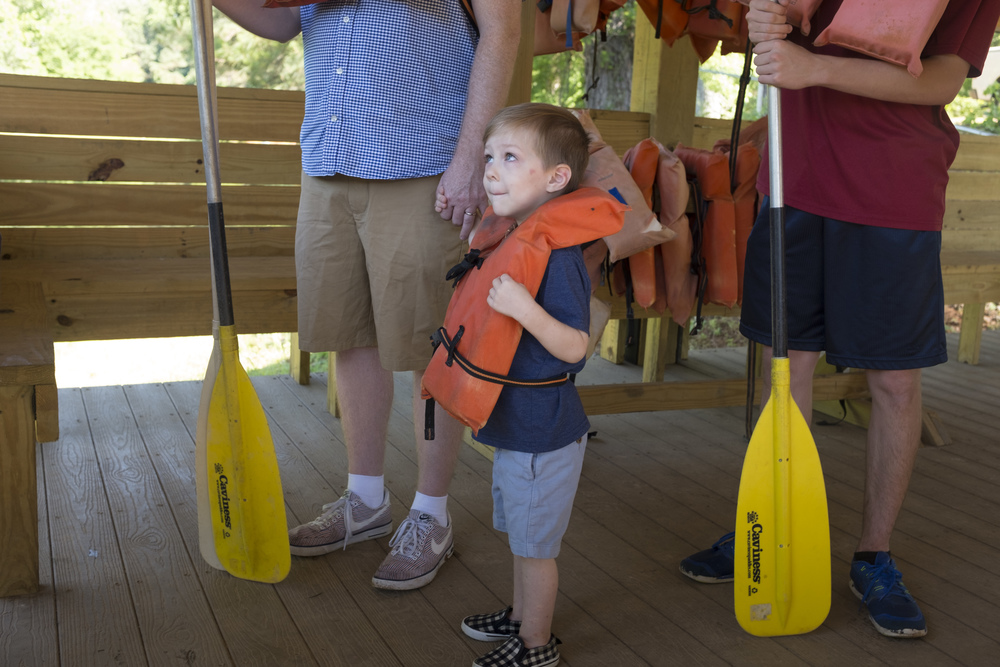 On Monday of the first week of camp, Brad took Miles out in a canoe for a few minutes and Miles absolutely loved it.