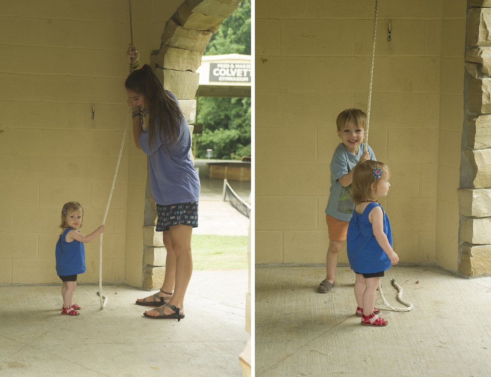 The kids loved the new bellower and getting to help ring the bell.